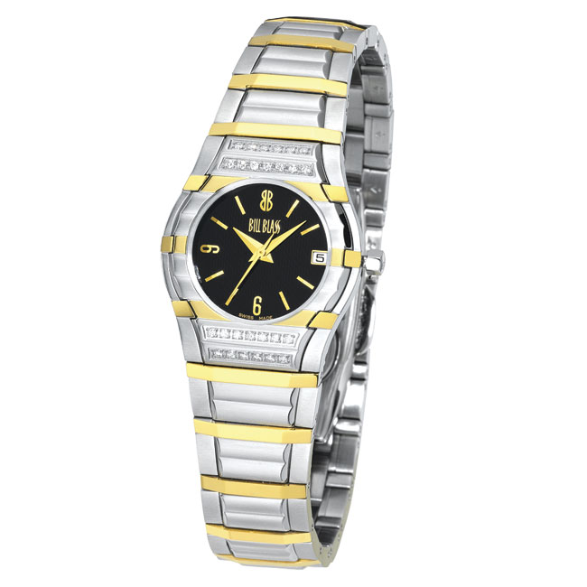 Versil Bill Blass Women's Two-tone Black Dial Watch