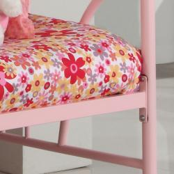 Pink Metal Twin-size Daybed