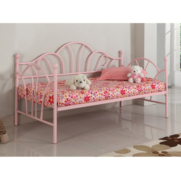 Pink Metal Twin Size Daybed