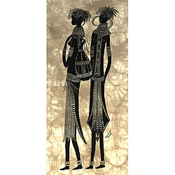 Heidi Lange 'Two Samburu Girls' Screen Print (Kenya)