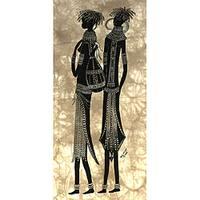 Heidi Lange 'Two Samburu Girls' Screen Print (Kenya)