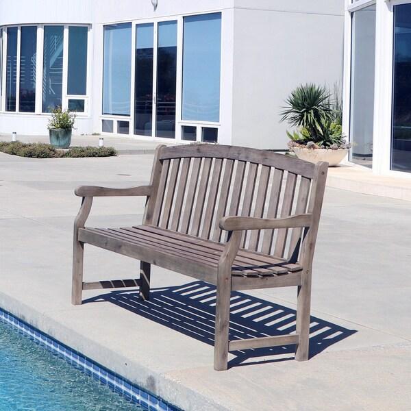 Vifah V1341 Bradley Outdoor Patio Acacia Hardwood Garden Armchair in White. Opens flyout.