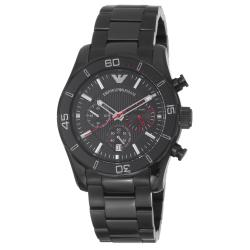 Emporio Armani Men's 'Sport' Black Dial Black Stainless Steel Watch