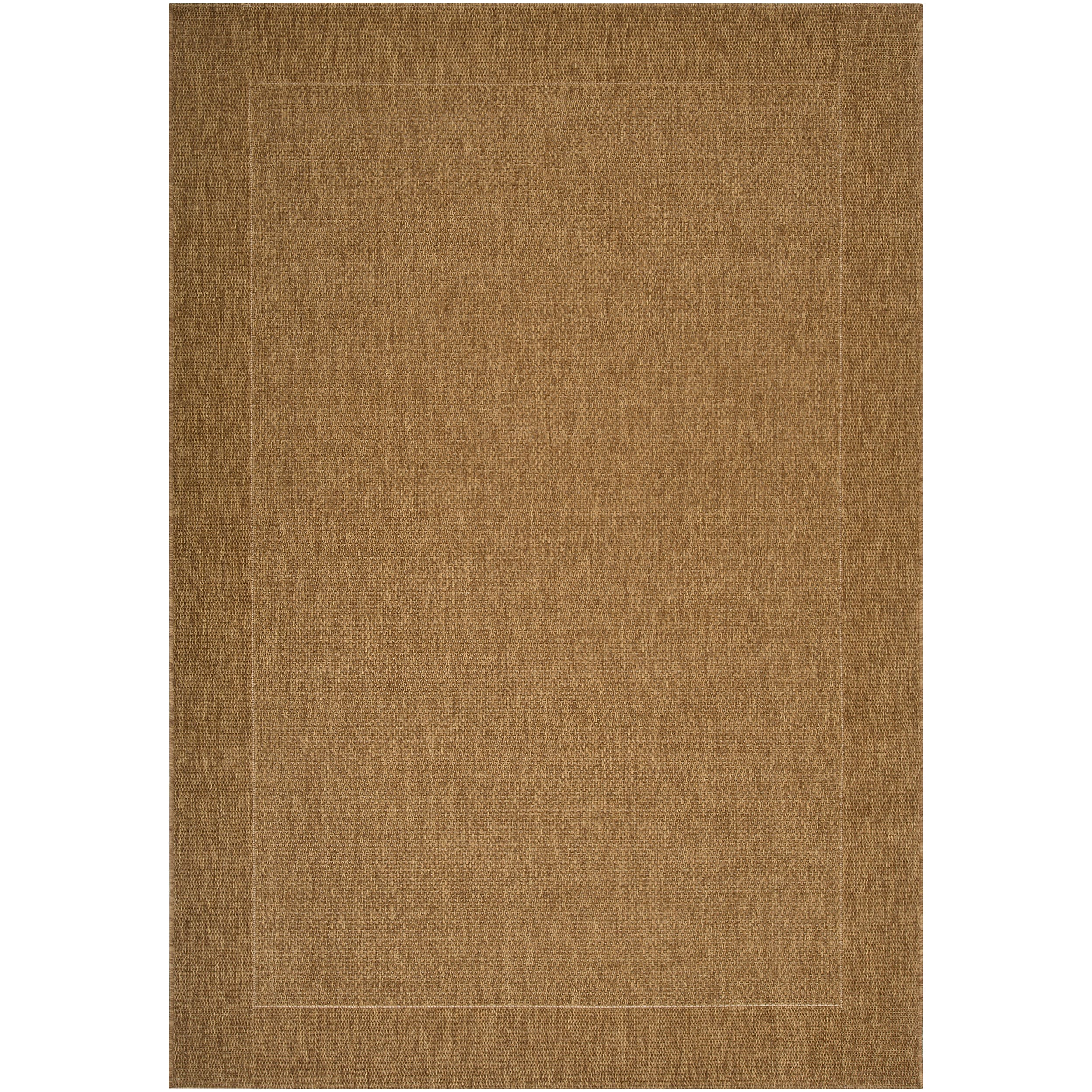 Woven Tan Akola Indoor/Outdoor Border Rug (5'3 x 7'6) - Thumbnail 0