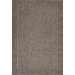 Woven Gray Amini Indoor/Outdoor Border Rug (5'3 x 7'6)