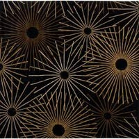 Hand-tufted Brown Contemporary Bawal Wool Abstract Area Rug - 9'9 x 9'9