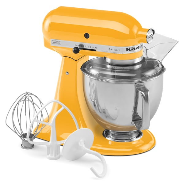 KitchenAid RRK150YP Yellow Artisan Series 5-quart Stand Mixer (Refurbished)
