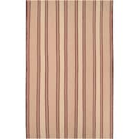 Hand-woven Tan Ashta Wool Area Rug - 5' x 8'