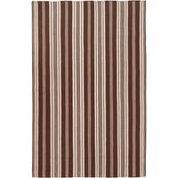 Hand-woven Brown Arvi Wool Area Rug - 5' x 8'