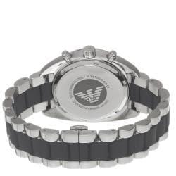 Emporio Armani Men's AR5952 'Sport' Stainless Steel Black Silicone Watch - Thumbnail 1