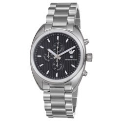 Emporio Armani Men's AR5957 'Sport' Black Chrono Dial Stainless Steel Watch