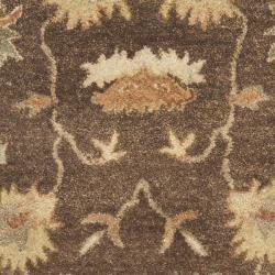 Safavieh Handmade Zeigler Brown/ Ivory Hand-spun Wool Rug (2'3 x 10')