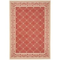 Safavieh Bay Red/ Natural Indoor/ Outdoor Rug - 2'7 x 5'