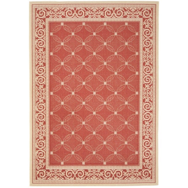 Safavieh Bay Red/ Natural Indoor/ Outdoor Rug (5'3 x 7'7) - Thumbnail 0
