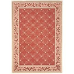 Safavieh Bay Red/ Natural Indoor/ Outdoor Rug (5'3 x 7'7)