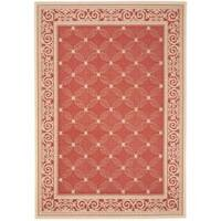 Safavieh Bay Red/ Natural Indoor/ Outdoor Rug - 8' x 11'2