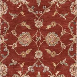 Hand-tufted Kensington Red Wool Rug (2' x 3')