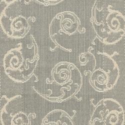 Safavieh Oasis Scrollwork Grey/ Natural Indoor/ Outdoor Rug (2'4 x 9'11) - Thumbnail 2