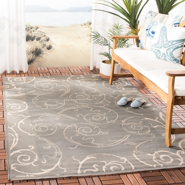 Shop Safavieh Oasis Scrollwork Grey Natural Indoor