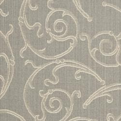 Safavieh Oasis Scrollwork Grey/ Natural Indoor/ Outdoor Rug (6'7 x 9'6) - Thumbnail 2