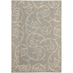 Safavieh Oasis Scrollwork Grey/ Natural Indoor/ Outdoor Rug (9' x 12')