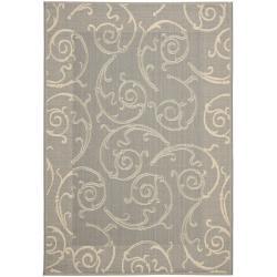 Safavieh Oasis Scrollwork Grey/ Natural Indoor/ Outdoor Rug (9' x 12')