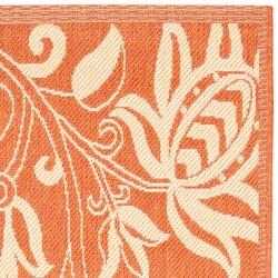 Safavieh Terracotta/ Natural Indoor Outdoor Rug (2'4 x 9'11)
