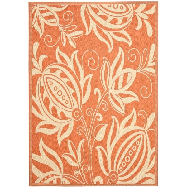 "Safavieh Andros Terracotta/ Natural Indoor/ Outdoor Rug - 6'-7"" x 9'-6"""