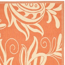 Safavieh Andros Terracotta/ Natural Indoor/ Outdoor Rug (6'7 x 9'6) - Thumbnail 1
