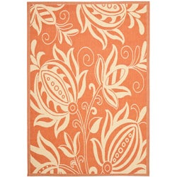 Safavieh Andros Terracotta/ Natural Indoor/ Outdoor Rug - 6'7 x 9'6 - Thumbnail 0