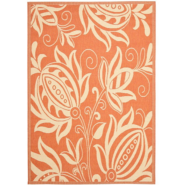 Safavieh Andros Terracotta/ Natural Indoor/ Outdoor Rug (8' x 11'2) - Thumbnail 0