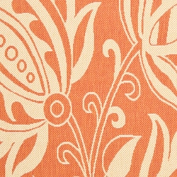 Safavieh Andros Terracotta/ Natural Indoor/ Outdoor Rug (8' x 11'2) - Thumbnail 2