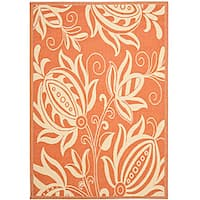 Safavieh Andros Terracotta/ Natural Indoor/ Outdoor Rug - 8' x 11'2