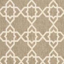 Safavieh Courtyard Geometric Trellis Brown/ Beige Indoor/ Outdoor Rug (2'4 x 6'7) - Thumbnail 2