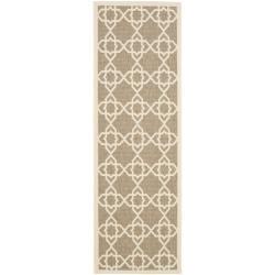 Safavieh Courtyard Geometric Trellis Brown/ Beige Indoor/ Outdoor Rug (2'4 x 6'7)