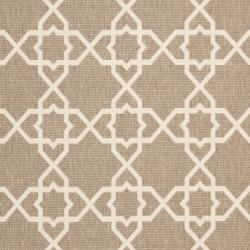 Safavieh Courtyard Geometric Trellis Brown/ Beige Indoor/ Outdoor Rug (8' x 11'2) - Thumbnail 2