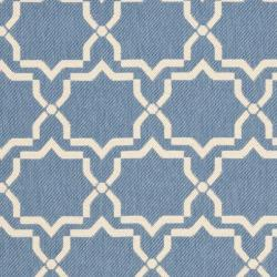Safavieh Courtyard Poolside Blue/ Beige Indoor/ Outdoor Rug (9' x 12') - Thumbnail 2