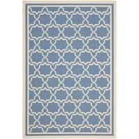 Safavieh Courtyard Poolside Blue/ Beige Indoor/ Outdoor Rug - 9' x 12'