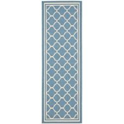 Safavieh Blue/ Beige Indoor Outdoor Rug (2'4 x 6'7)