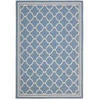 Safavieh Blue/Beige Indoor/Outdoor Geometric Rug - 2'7 x 5'