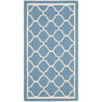 """Safavieh Blue/Beige Indoor/Outdoor Geometric Rug - 2'-7"""" x 5'"""