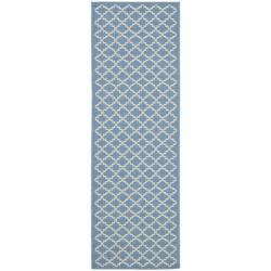 Safavieh Blue/Beige Diamond-Geometric-Pattern Indoor/Outdoor Rug (2'4 x 9'11)