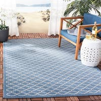 Safavieh Blue/Beige Indoor/Outdoor Geometric Rug - 8' X 11'