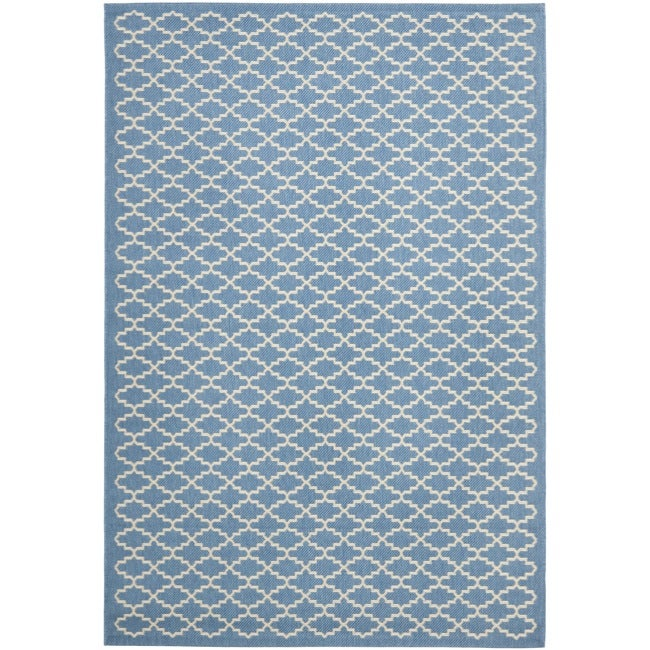 Safavieh Blue/Beige Indoor/Outdoor R(8' 11 x 12' rectangle) - 9' x 12'