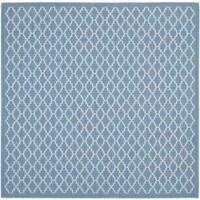Safavieh Blue/Beige Indoor/Outdoor R - 6'7 x 6'7
