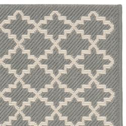 Safavieh Dark Grey/ Beige Indoor Outdoor Rug (2'4 x 6'7) - Thumbnail 1