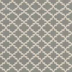 Safavieh Dark Grey/ Beige Indoor Outdoor Rug (2'4 x 6'7) - Thumbnail 2