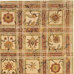Safavieh Handmade Hampton Beige Wool Rug (8' x 10') - Thumbnail 1