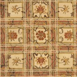 Safavieh Handmade Hampton Beige Wool Rug (8' x 10') - Thumbnail 2