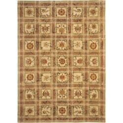 Safavieh Handmade Hampton Beige Gold Wool Rug (9' x 12')